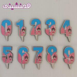 تاپرشمع اعداد تم لول طرح 04