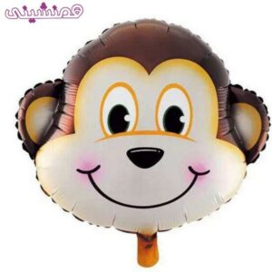 بادکنک فویلی شخصیت میمون تم حیوانات جنگل